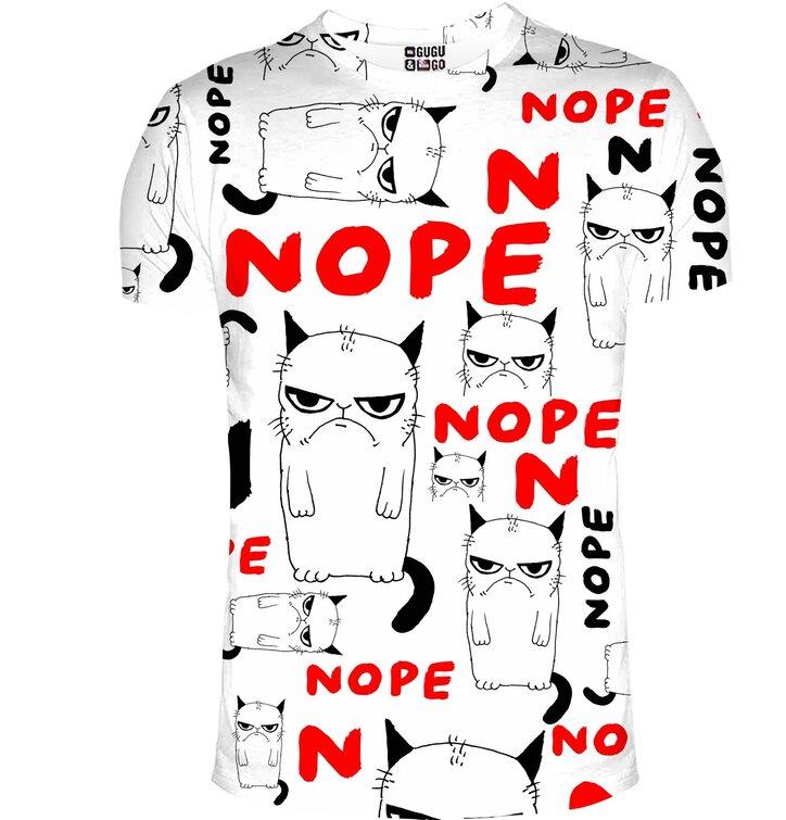 T-Shirt mit kurzen Ärmeln Grumpy Katze