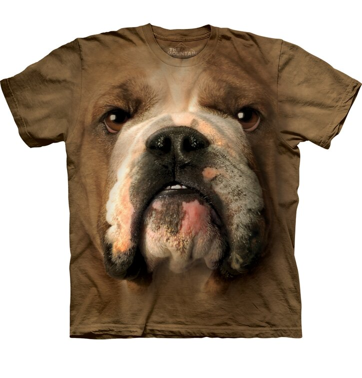 T-Shirt Bulldog Gesicht