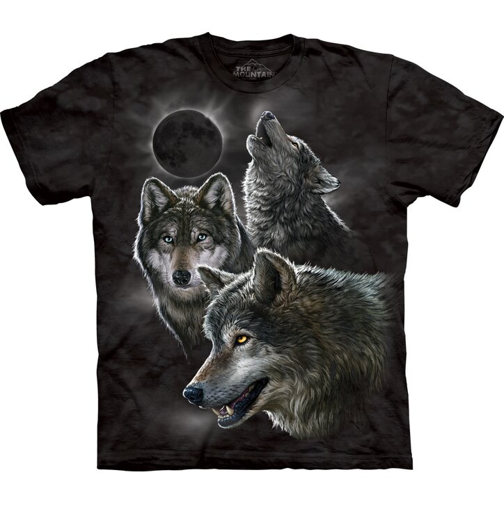 T-Shirt Wölfe und Mondfinsternis
