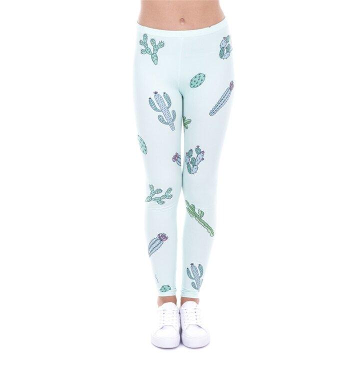 Damen Leggings elastisch Kakteen