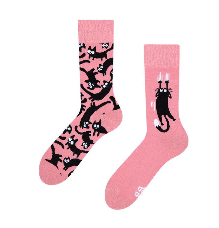 Veselé ponožky Ružové mačky