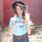 für ein vollkommenes und originelles Outfit T-Shirt Katze mit blauen Augen